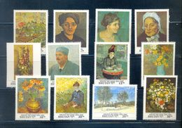 BHUTAN * SERIE 12v YEAR 1991 *  VINCENT VAN GOGH ART PAINTER PAINTINGS * MNH - Bhutan