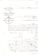 11 Narbonne - Lettre De 1884 Vins Du Midi Jacques Perrier. Belle Illustration. Complète.Tb état. - 1800 – 1899