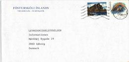 Iceland Cover Sent To Denmark Reykjavik 12-4-1994 - 1944-... Republique