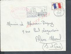 MILITARIA LETTRE EN FRNCHISE MILITAIRE OB GRENOBLE 1965 + TAMPON ECOLE DES PUPILLES DE L AIR AVIATION : - Marcophilie (Lettres)