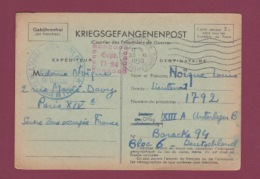 GUERRE 39/45 - 080717 - Kriegsgefangenenpost - OFLAG XIIIA  -   1940 - Prisonniers De Guerre Gepr. D 24 - Postmark Collection (Covers)