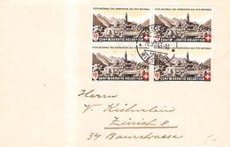 SUISSE - BRIEF PRO PATRIA 30 VII 1943 ZÜRICH Mi #420 - Lettres & Documents