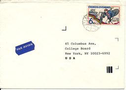 Czechoslovakia Cover Sent Air Mail  To USA - Czechoslovakia
