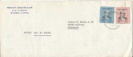 Turkey Cover Sent To Denmark Levent - 1921-... Republic