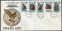 1982 Swaziland Wildlife Conservation Owls First Day Cover. FDC - Owls