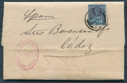 1900 GB QV Ruffer & Sons, Lombard Street, London FS6 Entire - Cadiz, Spain - Storia Postale
