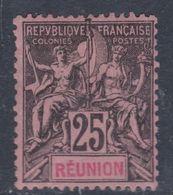 Réunion N° 39 X Type Groupe : 25 C. Noir Sur Rose,  Trace De Charnière Sinon TB - Neufs