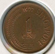 Singapour Singapore 1 Cent 1977 KM 1a - Singapour