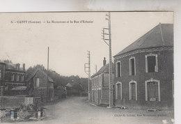 CAPPY  LE MONUMENT ET LA RUE D '  ENCLUSIER - France