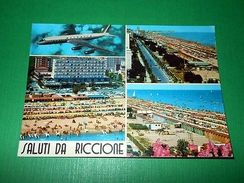 Cartolina Saluti Da Riccione - Vedute Diverse 1970 - Rimini