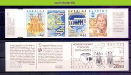 Ncz155 FAUNA INSECTEN NOBELPRICE GENETICS DNA HEALTH INSECTS *BOOKLET* SWEDEN SVERIGE 1989 PF/MNH - Nobel Prize Laureates