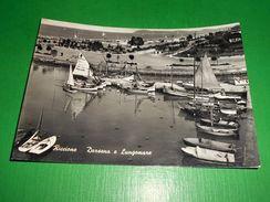 Cartolina Riccione - Darsena E Lungomare 1960 - Rimini