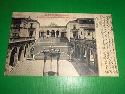 Cartolina Badia Di Montecassino - Cortile Centrale Visto Dall'alto Della Loggia - Frosinone