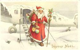 PERE  NOEL  DESCEND  D  UN  AVION - Santa Claus