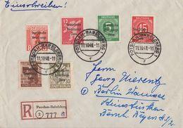 SBZ R-Brief Mif Minr.202,203,204,206,207,209 Potsdam-Babelsberg 11.10.48 - Zone Soviétique