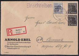 SBZ R-Brief Mif Minr.2x 182,196 Berlin 12.5.49 - Sowjetische Zone (SBZ)