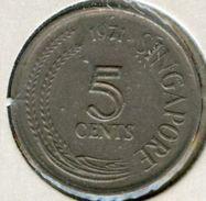 Singapour Singapore 5 Cents 1971 KM 2 - Singapur