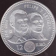 Espagne, 12 Euro 2004 - Argent / Silver - [ 5] 1949-… : Kingdom