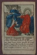 Image Pieuse - Gravure Début XIXème Aux Coloris De Style Populaire - Jeudi IV Semaine De Careme-Fils De La Veuve De Naim - Images Religieuses