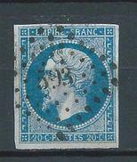 FRANCE 1854 . Classique N° 14A Oblitération Losange PC 593 (Cambrai) - 1853-1860 Napoleone III
