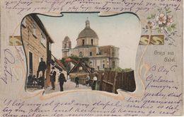 Litho AK Deutsch Gabel Jablonne Podjestedi Kirchplatz Gasthof ? A Hermsdorf Petersdorf Grossmergthal Ringelshain Zittau - Sudeten