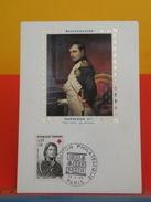 Coté 2,80€ - Bicentenaire Napoléon1er Par Paul Delaroche - 28.4.1969 - Paris - FDC 1er Jour, Carte Maxi - Cartes-Maximum