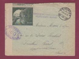 GUERRE 14/18 - 080717 -  INTERNEMENT DES PRISONNIERS DE GUERRE MEIRINGEN SUISSE - 1917 Censure 160 - Marcophilie (Lettres)
