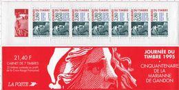N° BC2935 - Timbre France Carnets Journée Du Timbre Neuf 1995 Cinquantenaire De La Marianne De Gandon - Booklets