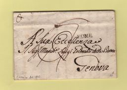 Rome - Destination Genova - Courrier De 1810 - Lombardy-Venetia