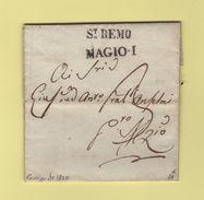 St Remo - Courrier De 1820 - Lombardo-Vénétie