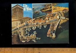 L'ILE D'YEU Vendée 85 : Eglise St Sauveur Port De La Meule Plage Des Sabias Port Joinville Bateau Ferry Boat Cargo Ship - Ile D'Yeu