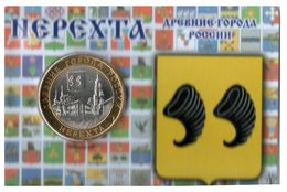 Russie - Magnetic Coin Card - 10 Roubles 2014 (Nerekhta, Kostroma Region) - Russia