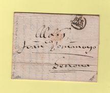 Bergamo - Destination Genova - Courrier De 1804 - Lombardy-Venetia