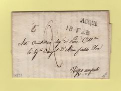 Acqui - Destination Nizza - Courrier De 1833 - Lombardy-Venetia