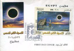 23417  Egypt, Fdc Of  S/s 2006 Eclipse, Sonnenfinsternis, Sun Eclipse - Astronomie