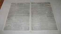 ARIEGE - VICDESSOS - MINES DE RANCIE - LE SINISTRE DE 1837. ( JOURNAL DE TOULOUSE ). - Journaux - Quotidiens