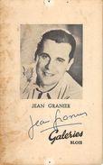 JEAN GRANIER - Autographes