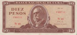 (B0711) CUBA, 1971. 10 Pesos. P-104a. XF - Cuba