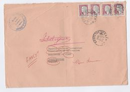 1964 CAEN UNIVERSITY FRANCE COVER Stamps To  GB REDIRECTED - Covers & Documents