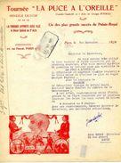 """THEATRE :Tournée Théatrale """" La Puce à L'Oreille"""", Administrateur . DUBOIS, 65 Rue Pascal, PARIS, 1922 - Théatre & Déguisements"""