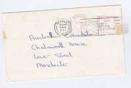 1987 BELFAST COVER METER Stamps + SLOGAN SAY IT BETTER IN A LETTER Northern Ireland Gb - 1952-.... (Elizabeth II)