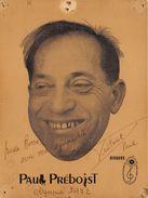 PAUL PREBOIST - Autographes
