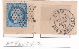 Etoile 4ex24-2 Sur 60a - Marcophilie (Timbres Détachés)