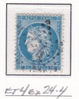 Etoile 4ex24-4 Sur 60a - Marcophilie (Timbres Détachés)