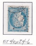 Etoile 4ex24-6 Sur 60a - Marcophilie (Timbres Détachés)