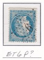 Etoile 6 P? Sur 60a - Marcophilie (Timbres Détachés)