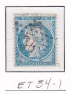 Etoile 34-1 Sur 60a - Marcophilie (Timbres Détachés)
