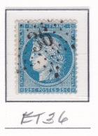 Etoile 36 Sur 60a - Marcophilie (Timbres Détachés)