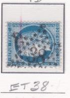 Etoile 38 Sur 60a - Marcophilie (Timbres Détachés)