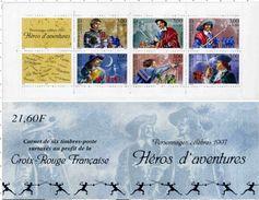 "BLOCS FEUILLETS - 1997: Carnet ""Héros D'aventures"" - BC 3121 - Red Cross"